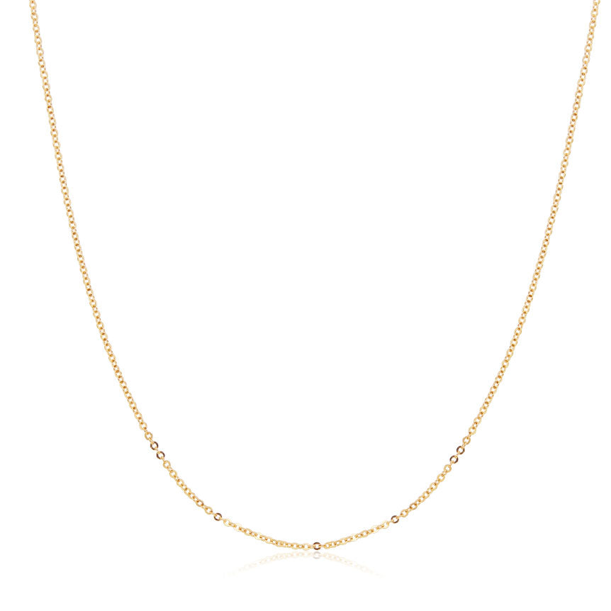 Classic Chain Necklace in Yellow Gold