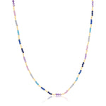 Pastel Rainbow Beaded Necklace