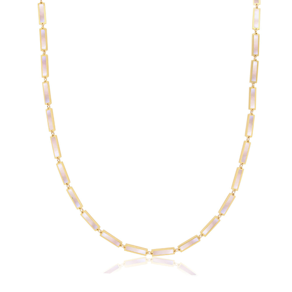 Baguette Mother of Pearl Necklace