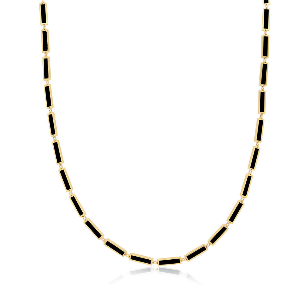 Baguette Onyx Necklace