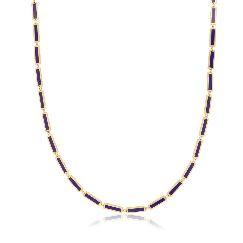 Baguette Lapis Necklace