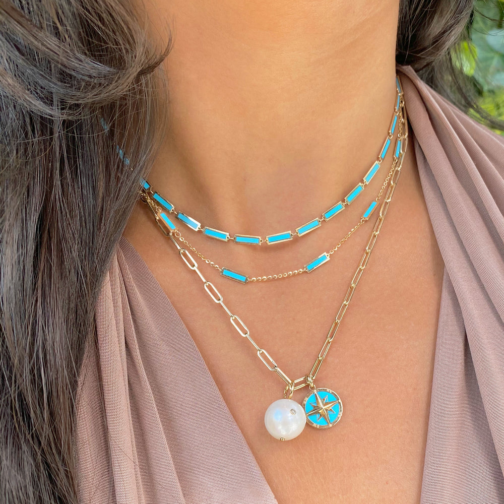 Baguette Turquoise Necklace