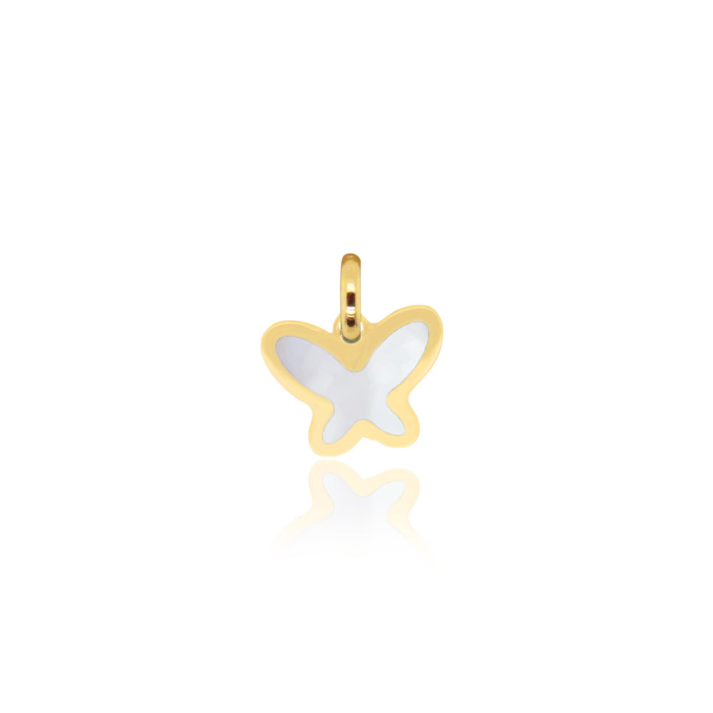 Mini Mother of Pearl Butterfly Charm