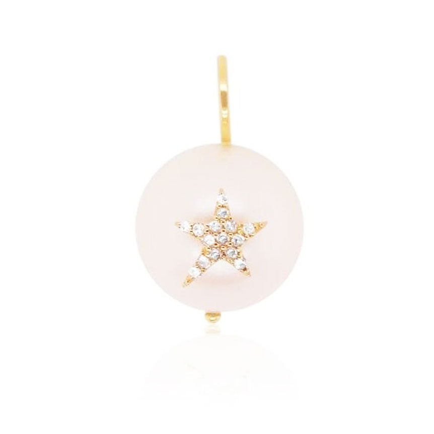 Pearl Pendant with Diamond Star