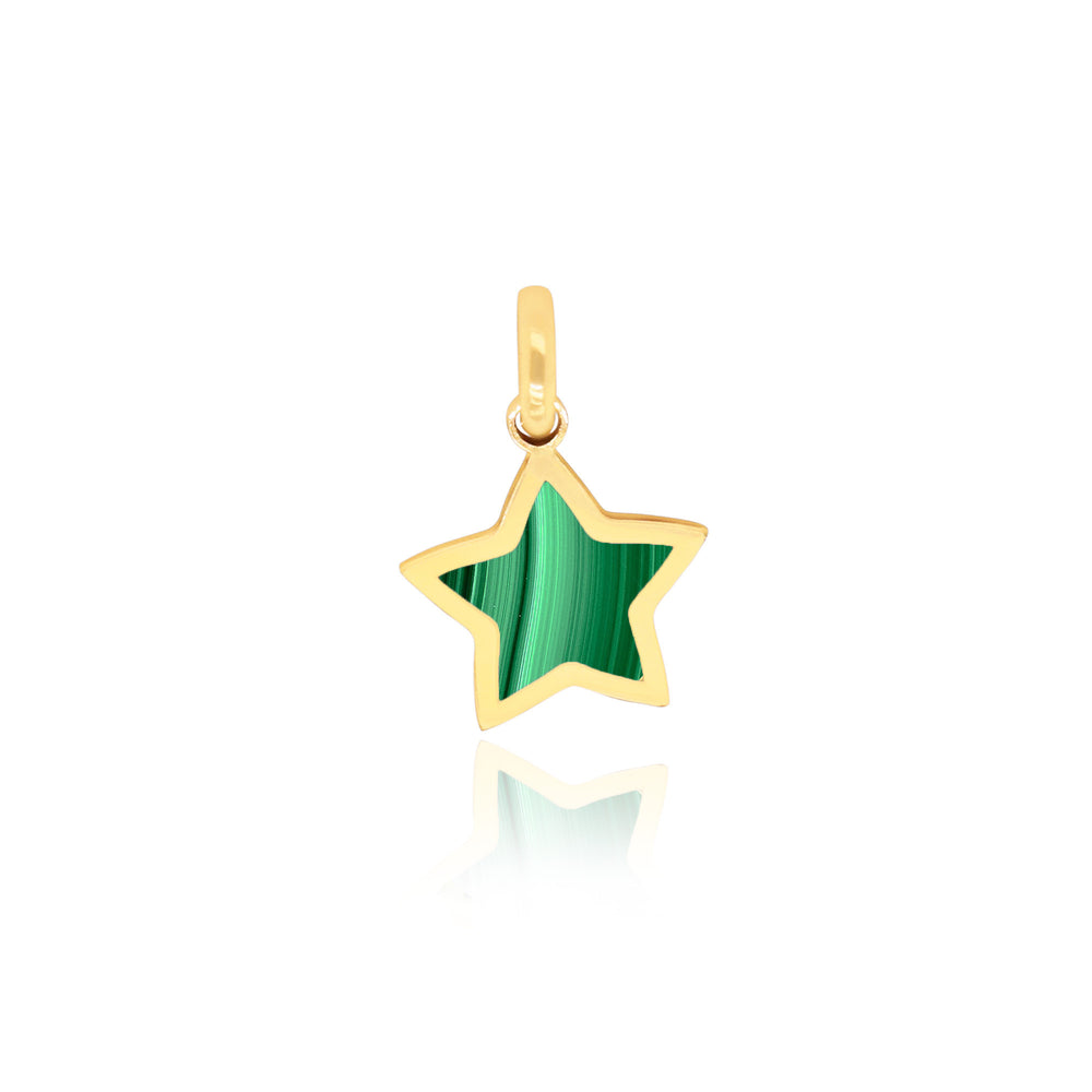 Mini Malachite Star Charm