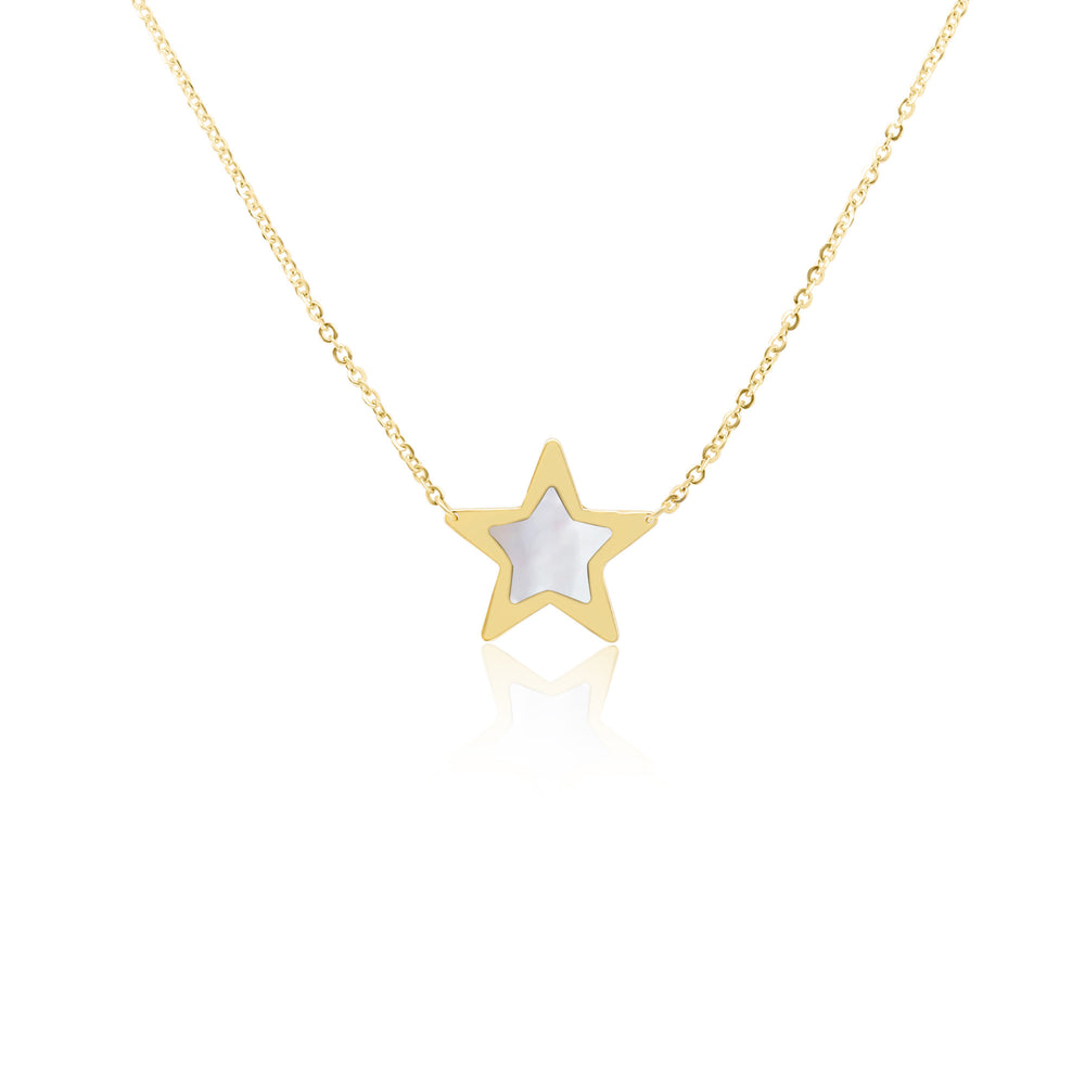 Mother of Pearl Single Star Necklace