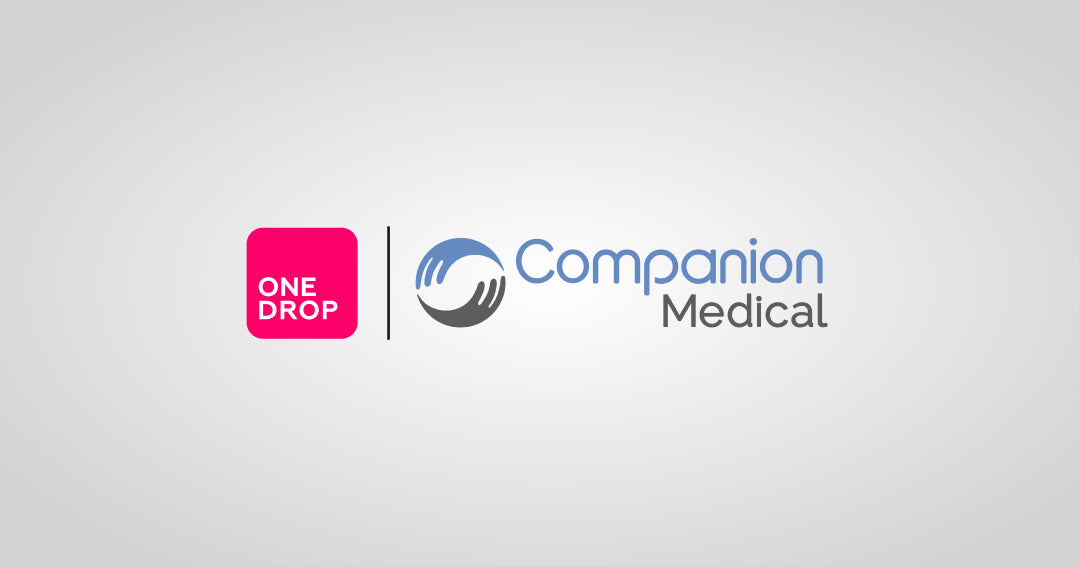 one drop companion medical and one drop announce partnership in