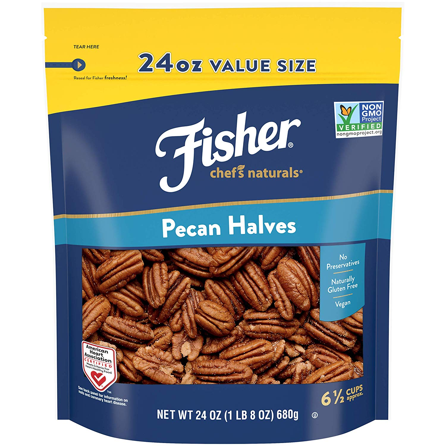 fisher pecan halves - low carb pecans - best low carb snacks