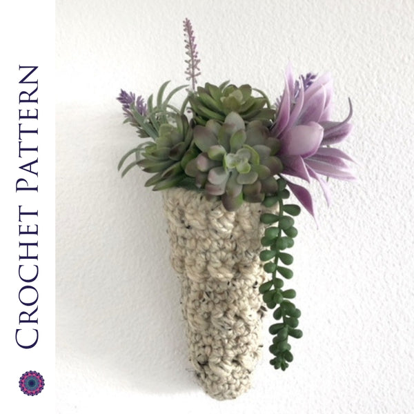 Desert Rose Hanging Planter Basket Crochet Pattern | PREMIUM