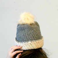 Aspen Knit Look Double Brim Beanie Crochet Pattern | LITE VERSION