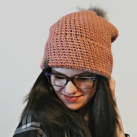 Aspen Knit-Look Double Brim Beanie Crochet Pattern | PREMIUM VERSION