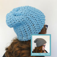 Polly Double-Thick Reversible Hat Crochet Pattern | LITE VERSION | One Size