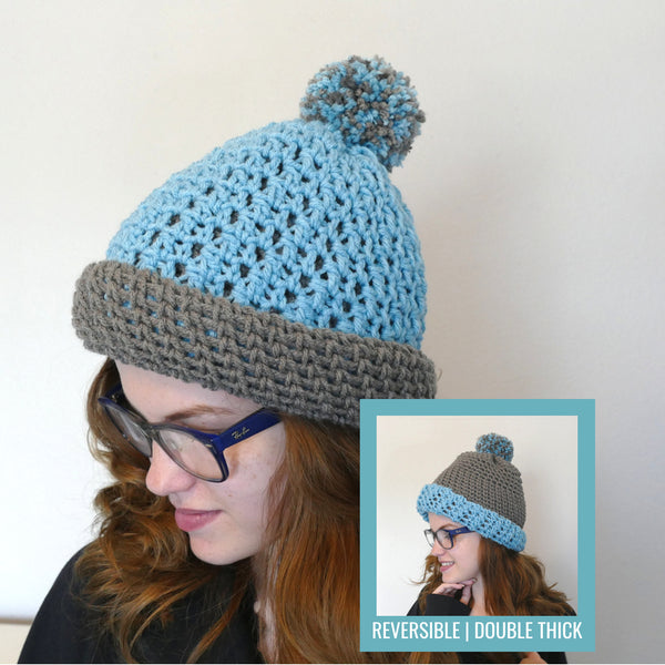 513bf78e Polly Double-Thick Reversible Hat | LITE – Made with a Twist