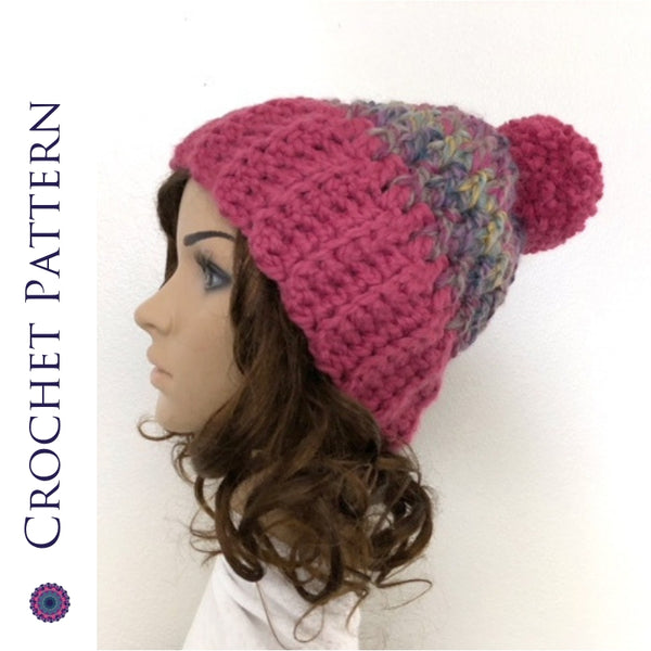 Denali Peaks Hat Crochet Pattern | PREMIUM VERSION