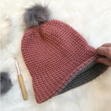 Aspen Knit Look Double Brim Beanie | LITE