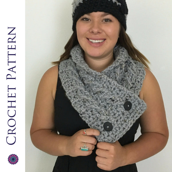 Inspire Button Scarf | Crochet Pattern