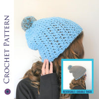 Polly Reversible Beanie Crochet Pattern | PREMIUM VERSION