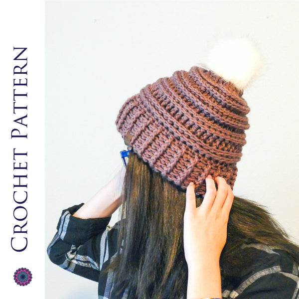 Keystone Ribbed Double Brim Hat Crochet Pattern | LITE VERSION