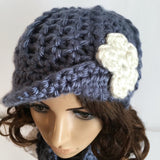Asymmetrical Newsboy Cap | Crochet Pattern