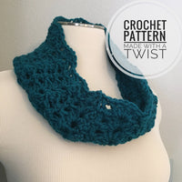 Lightweight Lace Cowl CROCHET PATTERN - Spring Cowl Pattern - Crochet Lace Cowl - Lacy Cowl Crochet Pattern - Lightweight Cowl Pattern
