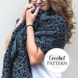 Chunky Rectangle Shawl | PREMIUM