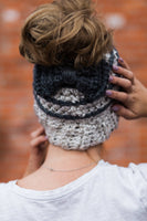 Messy Bun Hat CROCHET PATTERN - Bun Hat with Bow Pattern - Ponytail Hat Crochet Pattern - Striped Bun Beanie Pattern - Ponytail Beanie