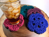 CROCHET PATTERN Super Chunky Coasters - Quick and Easy Spring Craft Fair Crochet Pattern