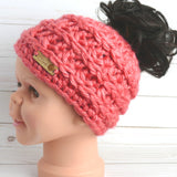 Phoneytail Hat Crochet Pattern - Faux Ponytail Hat - Fun Bun Hat Crochet Pattern - Faux Fun Hat - Faux Messy Bun Beanie - Fake Pony Beanie