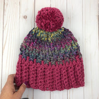 Denali Peaks Unisex Hat Crochet Pattern | LITE VERSION