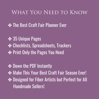 The Best Craft Fair Planner Ever | 35 Pages