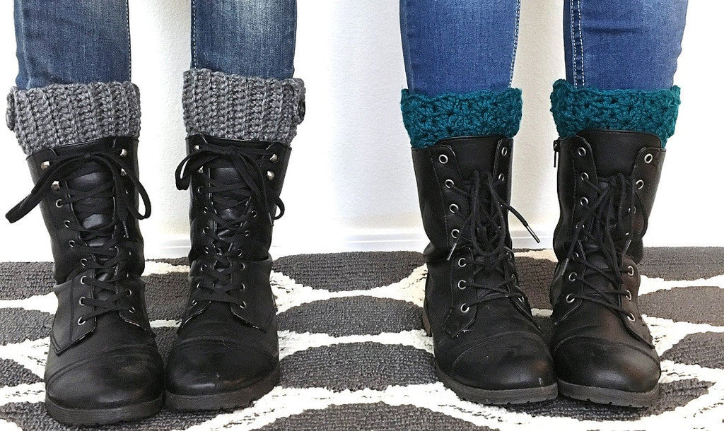 Handmade Reversible Boot Cuffs