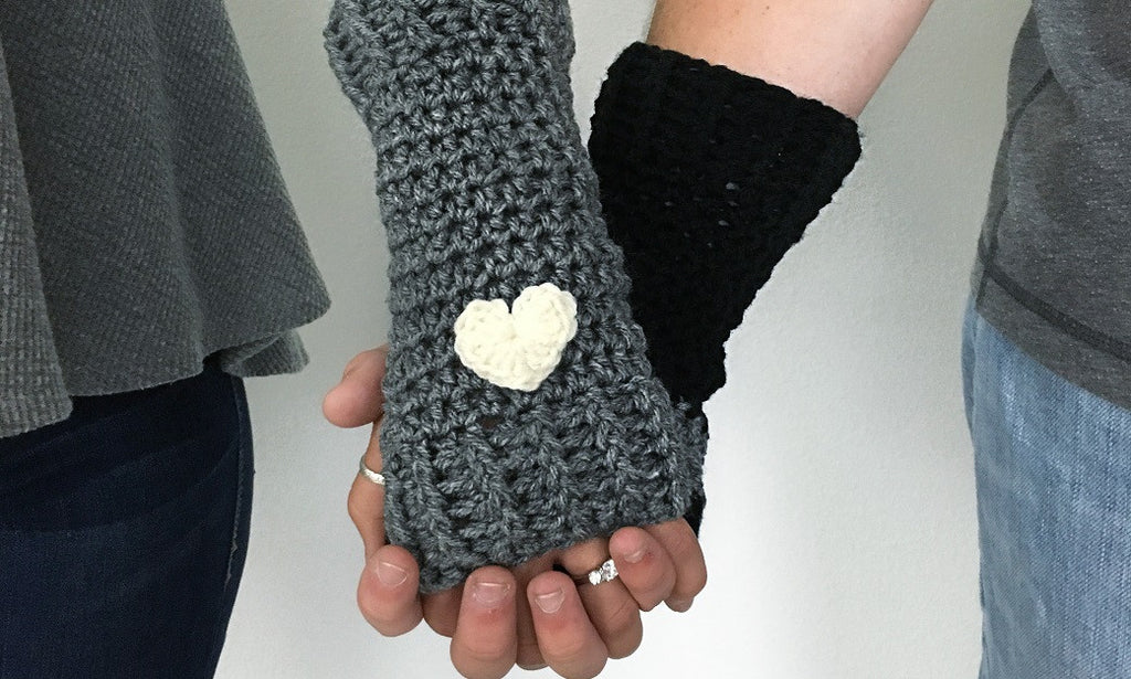 Handmade Heart Fingerless Gloves