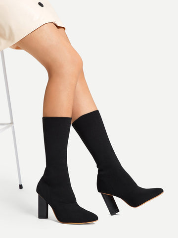 ad98244094 Plain Pointed Toe Ruched Boots. Regular price R 698. View · Plain Sock Boots