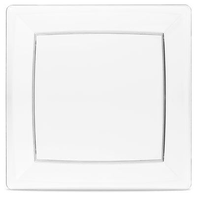 9 nine inch square plate clear