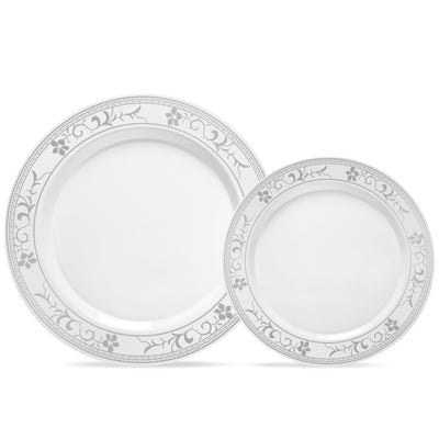 flower design plates six and nine inch