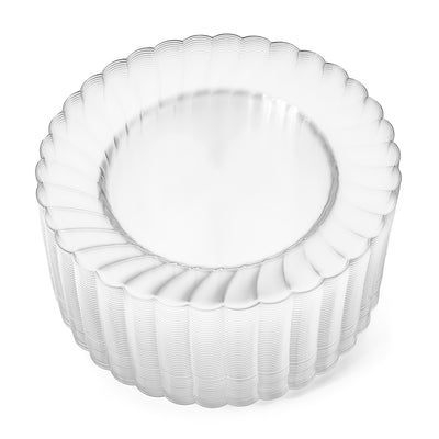 "6"" Clear Round Plates (100 count)"