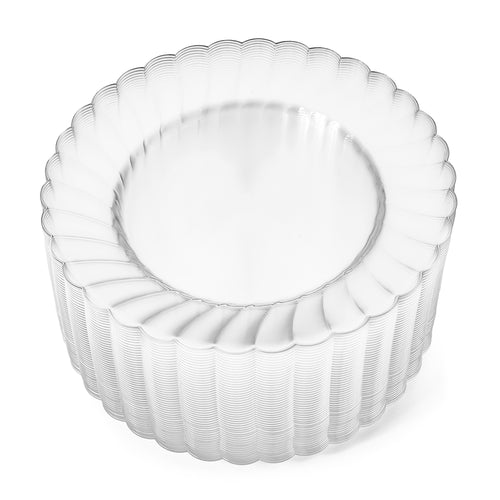 "9"" Clear Round Plates (50 count)"