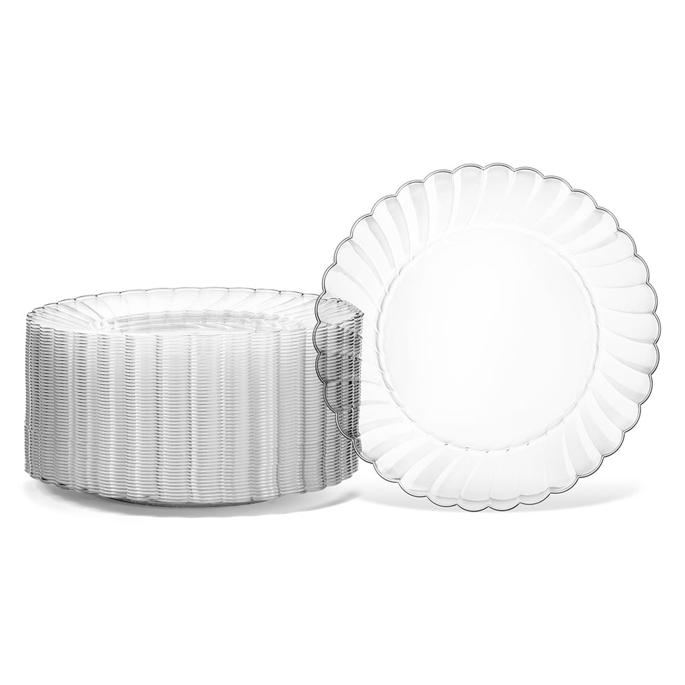 6 inch clear Plate six