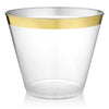Old Fashioned Tumblers Gold Trim