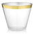 Old Fashioned Tumblers with Gold Trim - 9 oz - (64 Count)