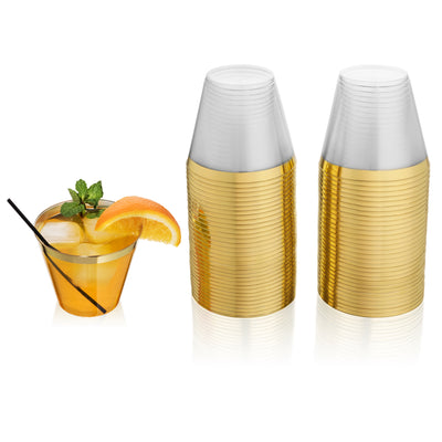set of fifty cup gold rimmed