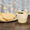 Old Fashioned cups with cookies