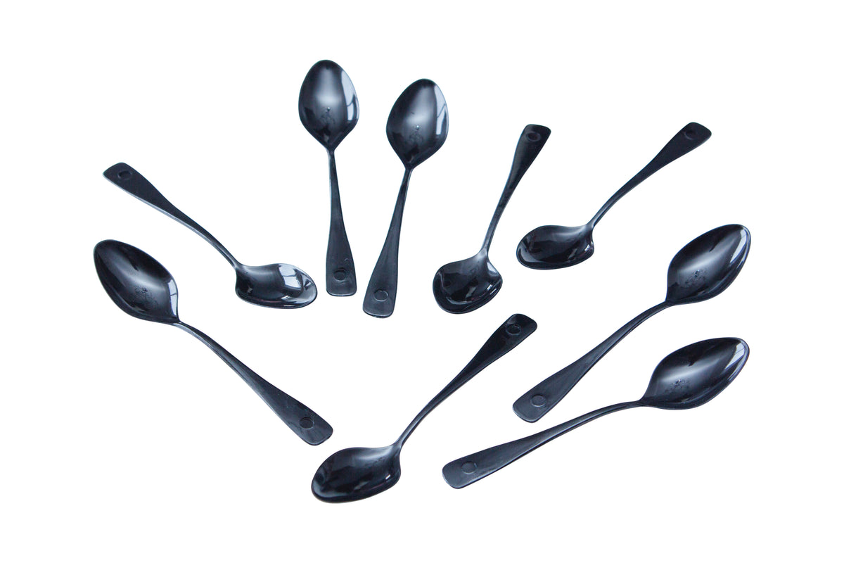 Black Plastic Spoon