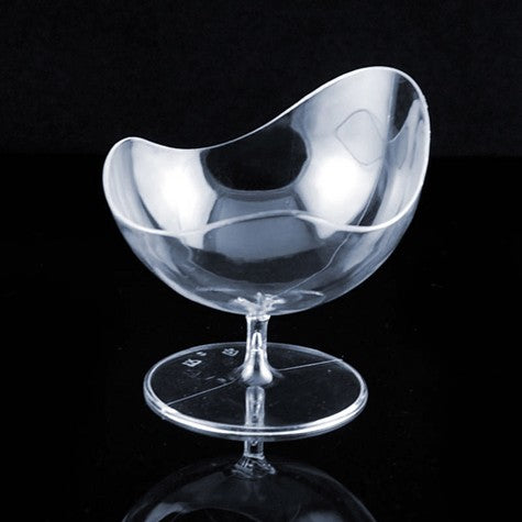 Clear Scallop Stem Cup - 2 oz (24 Count)
