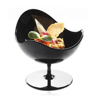 Black Scallop Stem Cup