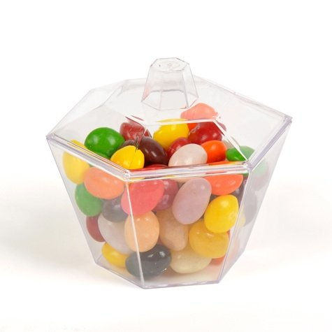 Hexagonal bowl with candy's