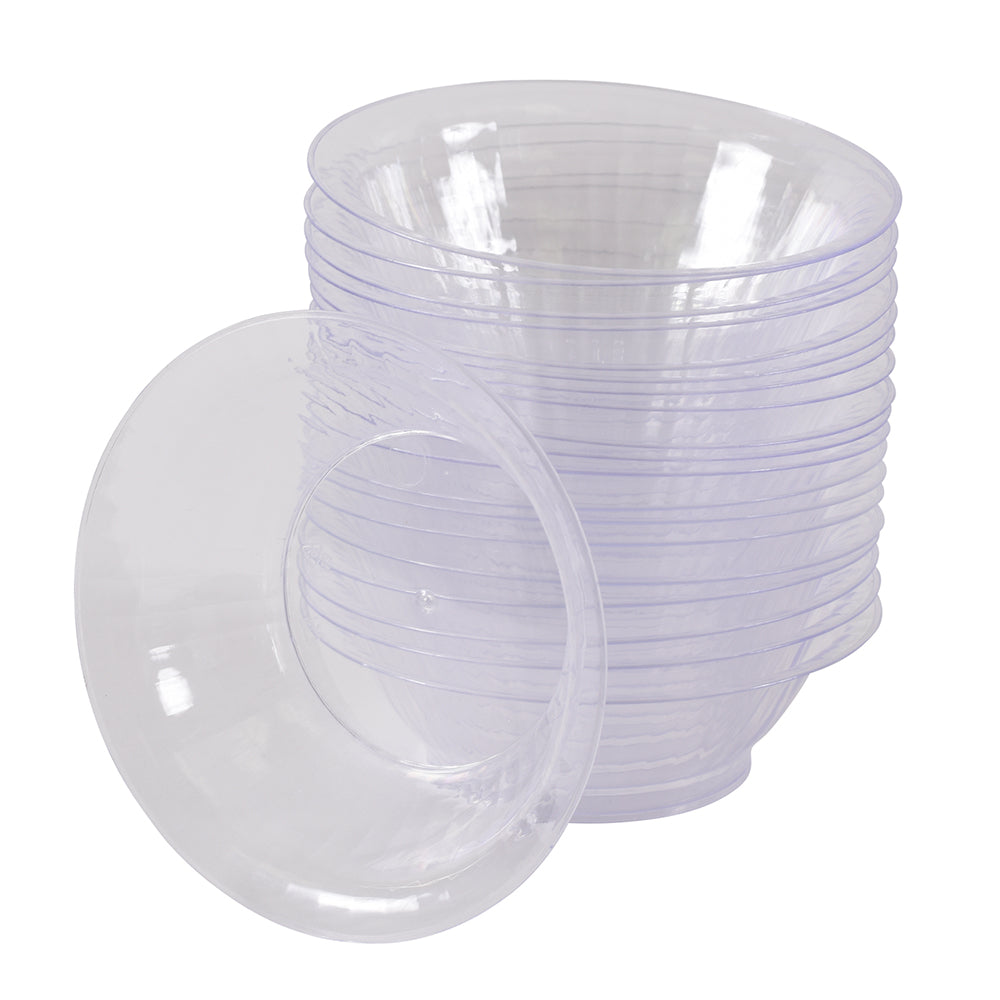 pack of 20 plastic bowls with fruits