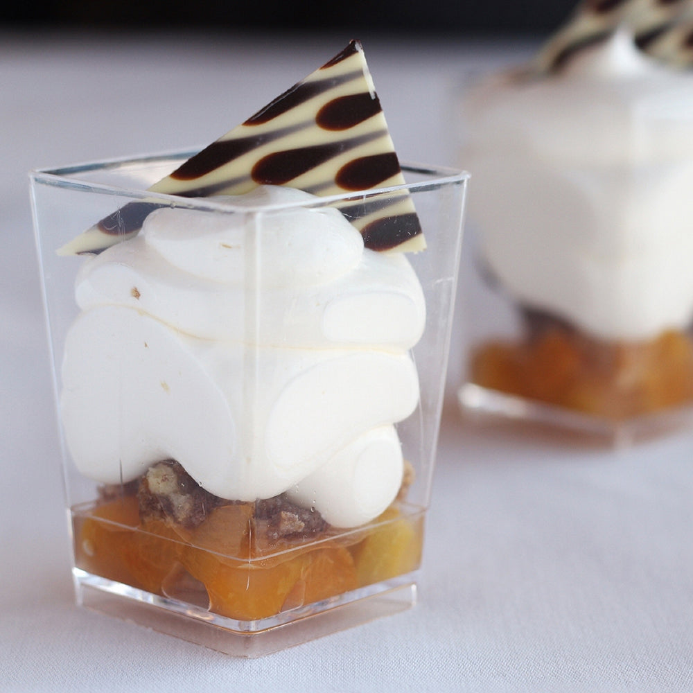 4 oz mini square dessert cups