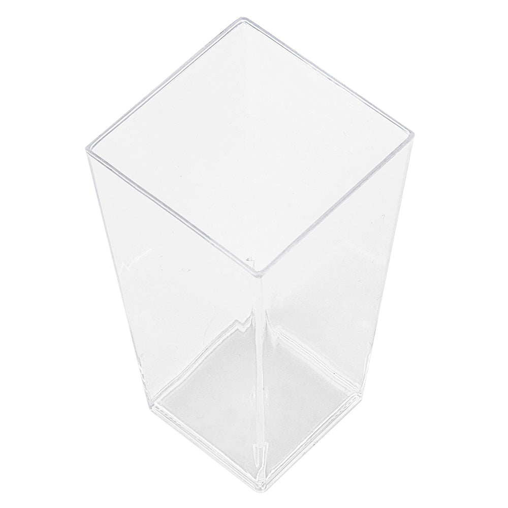 clear square plastic cup