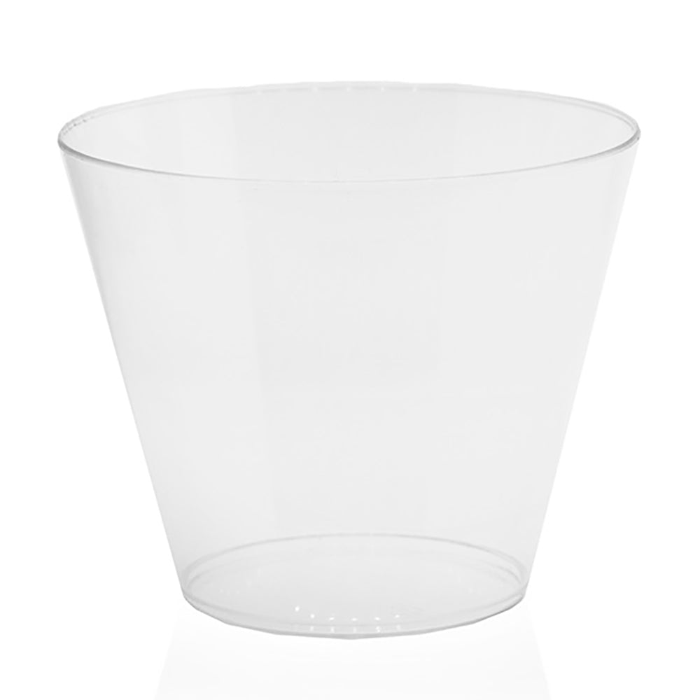 Clear round plastic cup
